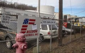 West Virginia chemical company Freedom Industries poisons water.