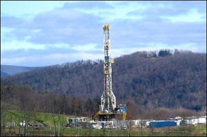 WV Natural gas drilling rig