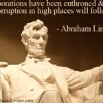 Abraham Lincoln on Corporate Greed and Corruption