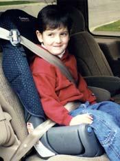 child wearing seat belt in West Virginia