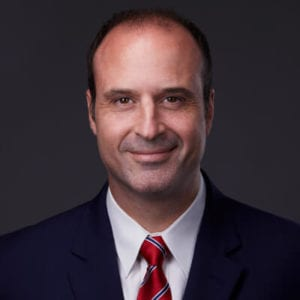 Head shot of personal injury lawyer Brooks West