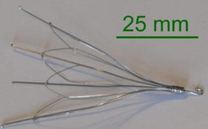 IVC filter with measurment