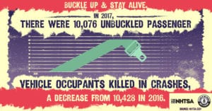 seatbelt infograph on how over 10,000 people killed because of not wearing seatbelt