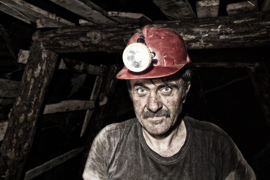 West Virginia Coal Miner in the mines