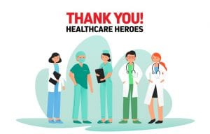 Thank You West Virginia Healthcare Workers Illustration