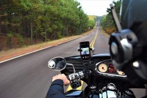 Motorcycle on West Virginia rural road