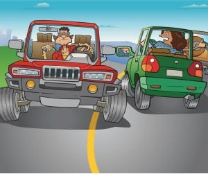 Reckless driving increasing fatal car accidents.