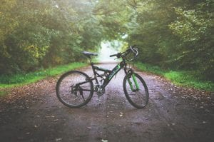 bicycle on West Virginia Country Road