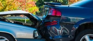car crash involving two cars