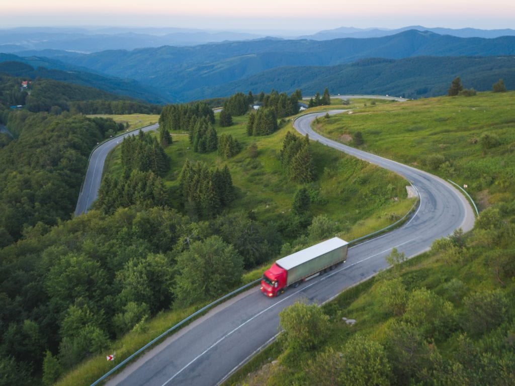 Tractor trailer driving in West Virginia before accident