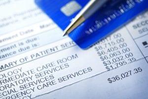 Hospital bills after a car accident