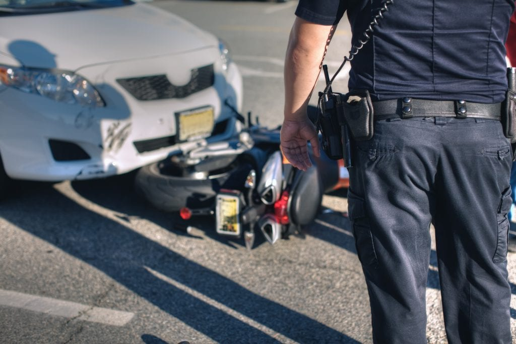 Motorcycle rider hit by drunk driver